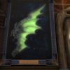 エオルゼア文字を求めて : 「神龍の翼」とコスタ・デル・ソルのクジラの絵と幻術士ギルドマスターの杖