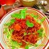 雑穀ぎゅうぎゅうmeatトマトソースパスタ