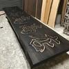 木製看板 塗装中