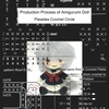 Production Process of Amigurumi Doll: あみぐるみ少女の制作工程 (English Edition) ~Link summary of Amazon sales page in each country~
