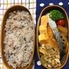 20171128焼き鮭と「食べる黒酢」の和え物弁当&歌う2歳児