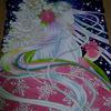 クリスマス平安姫進捗状況:ただただ下塗り・・・