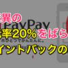 【現代の錬金術】PayPayが驚異のポイント還元率20%をばら撒き中!大量ポイントゲットの裏技をご紹介