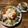 🚩外食日記(85)    宮崎ランチ   「あめいろCAFE」より、【チキン南蛮サラダごはん】‼️