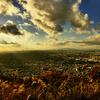 初冬の生駒山夕景 トレイルラン~京アニの世界と言われた絶景
