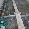 外構工事19日目~駐車場のコンクリートのところのワイヤーメッシュと、生垣のところの土がはいっていました。