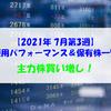 【株式】週間運用パフォーマンス&保有株一覧(2021.7.16時点) 主力株買い増し!