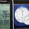 エアコンの温度表示は当てにならない、室温は温度計で管理
