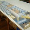 ジオラマ アスファルト舗装製作 ライン引き
