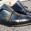 【素人・自分でパティーヌのやり方】勢いで革靴をネイビーに染めてみたよ!!動画あり