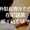 海外駐在妻の在宅副業・日本のお小遣いを稼ぐカンタンな方法とは?【ポイ活のススメ】