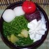 セブンのスイーツ新商品 宇治抹茶と黒糖寒天の和ぱふぇ