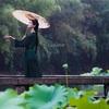 青蛇伝・上海南翔古猗园・大雨の中でのポートレート撮影会