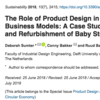 【D×B:No.1】The Role of Product Design in Creating Circular Business Models: A Case Study on the Lease and Refurbishment of Baby Strollers(2018)