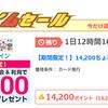 【ちょびリッチ】楽天カード発行で14,200ポイント(6,390ANAマイル)!