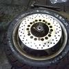 #バイク屋の日常 #ヤマハ #マジェスティー125 #タイヤ交換 #ブレーキローター交換