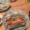 鮭のホイル煮、キノコの味噌汁🍄