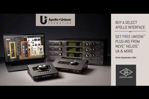 UNIVERSAL AUDIOのオーディオI/O Apolloシリーズ新規購入でUNISON/UADプラグインが付属