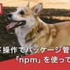 コマンド操作でパッケージ管理ツール「npm」を使ってみよう!