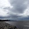 台風通過後の海