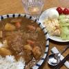 作り置きカレーライス・温野菜