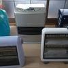 暖房器具の片付け。数は多いけど手放さないでおきます。