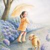水彩画「散歩道〜梅雨〜」