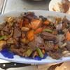 幸運な病のレシピ( 1412 )夜:サイコロステーキ(ローストビーフ風)、ブリカマ、汁