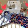 入園準備で作ったレッスンバッグ&巾着袋。手作りなんてしない!と言ってたくせに…(汗)