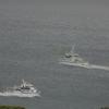 タンカー と 警備艇