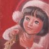 パステル「小さな贈り物1」