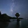 【天体撮影記 第103夜】 長崎県 かきどまり弁天白浜海岸のりんご岩と天の川