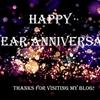 ブログを始めてから1年が経ちました