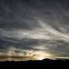 夕方、北アルプスと空を眺める時間。