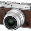 1000台限定のブラウン色!!ミラーレスカメラFUJIFILM X-E3の単焦点レンズキット。
