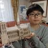 今日から暫く小学校がお休みになった九龍は、今は無きパリのノートルダム大聖堂のミニチュア・ペーパー・クラフトを組み立てていました。