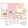 【エステサロンチラシ作成】パンフレット印刷・サロンリーフレット印刷|ネイルサロン・美容室・サロンスクールデザイン