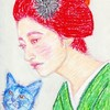 Japanese Beauty & Cat