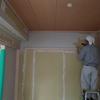 和室の塗り壁 珪藻土 スパニッシュ仕上げ