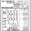 広告代理店の株式会社ジオコード 第13期決算公告