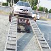 行田市からレッカー車で車検の切れたパンクした不動車を廃車の出張引き取りしました。