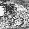 山本弘の作品解説(29)デッサン2点「鳥」と「自画像」