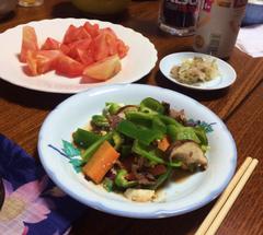 ★ピーマン肉炒め