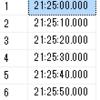 SQLServer timeレコードを任意の間隔で生成する
