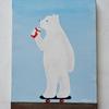 新しくスケボーにのったシロクマの絵を描きました!