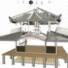 七面堂の十字屋根