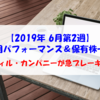 【株式】運用パフォーマンス&保有株一覧(2019.6.14時点) フィル・カンパニーが急ブレーキ!