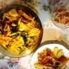 鶏肉とほうれん草のペンネ、カツ、ジャーマンポテト、スモークチーズ、焼きサンド