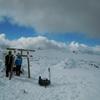 積雪期蓼科山