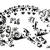 アラベスクアート?豚